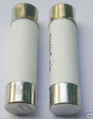 10mm x 38mm 6A Catridge Fuse aM