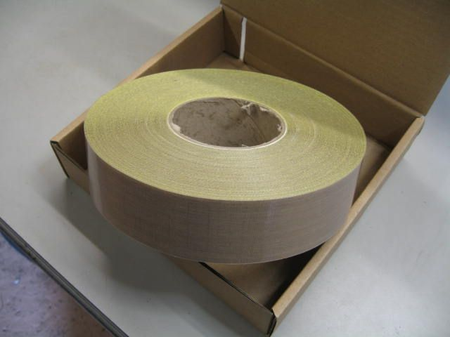 50mm x 10thou PTFE GLASS WOVEN Tape Self Adhesive Per Mtr